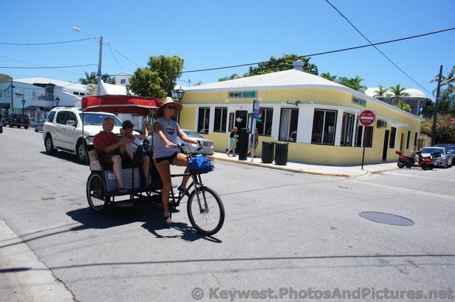 Bicycle Drawn Carriage Pedicab on Duval St Key West.jpg