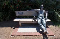 Lunchbreak Sculpture Statue by J. Seward Johnson at Key West Custom House Museum grounds.jpg