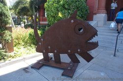 Piranha Metal Sculpture in front of Key West Custom House Museum of Art.jpg