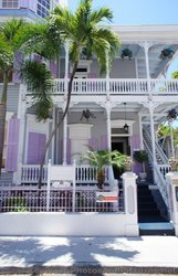 Three Story House with Wrap Around Deck and Lavendar Shutters in Key West.jpg